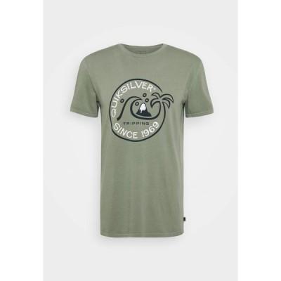 クイックシルバー Tシャツ メンズ トップス INTO THE WIDE - Print T-shirt - blue spruce