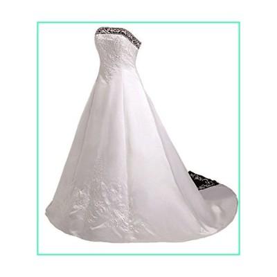 RohmBridal Women's Embroidery Wedding Dress Bridal Gown Ivory & Black Size 30並行輸入品