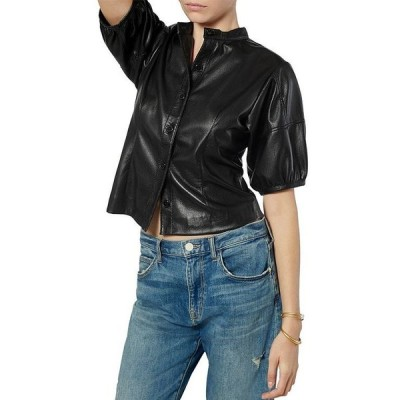 ジョア レディース シャツ トップス Caliste Faux Leather Shirt