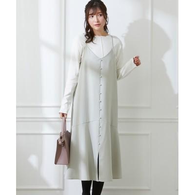 お買い得な2点セット(キャミワンピース+カットソートップス) (ワンピース)Dress