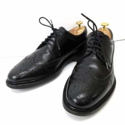 【中古】ジャランスリワヤ Jalan Sriwijaya ビジネスシューズ Dainite SOLE ダイナイト メダリオン レザー 8 黒 ブラック IBS91 メンズ