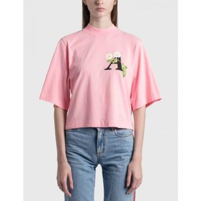 パーム エンジェルス Palm Angels レディース Tシャツ トップス daisy logo cropped t-shirt Pink
