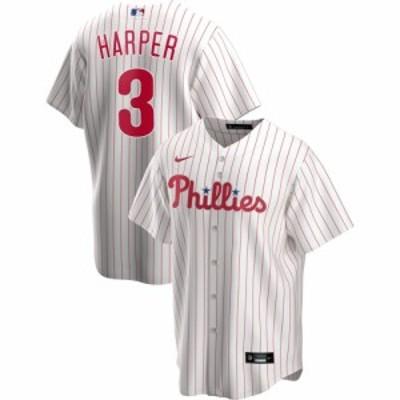 ナイキ Nike メンズ トップス Replica Philadelphia Phillies Bryce Harper #3 White Cool Base Jersey