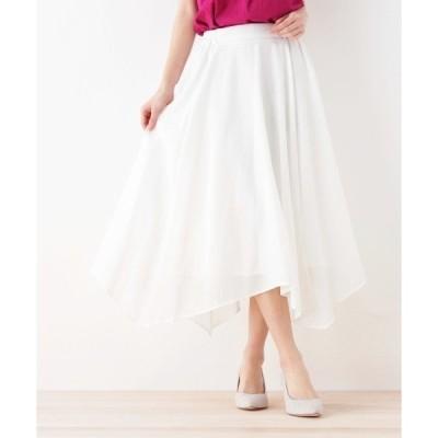 ◆イレギュラーヘムロングスカート