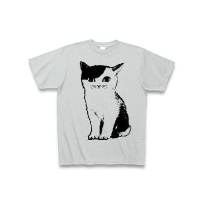 猫 Tシャツ(グレー)