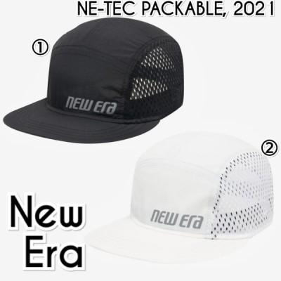 ニューエラ New Era パッカーブル ロゴ ジェットキャップ 黒 白 メンズ レディース