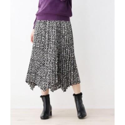 grove / グローブ 小花柄イレギュラーヘムプリーツスカート
