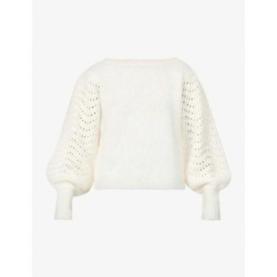 マーレット MERLETTE レディース ニット・セーター トップス Somerset dolman-sleeved wool-blend jumper IVORY
