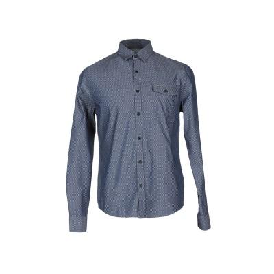 YOOX - CALVIN KLEIN JEANS シャツ ブルーグレー S コットン 100% シャツ
