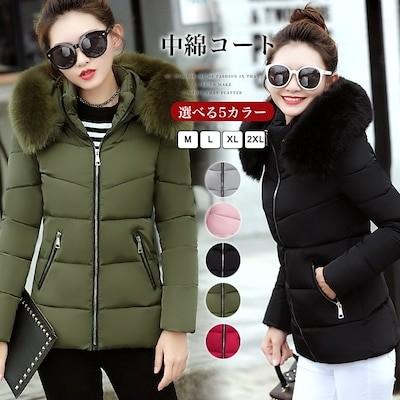 無地 秋冬新品 女性 中綿ジャケット 韓国ファッション 冬 カジュアル ゆったり カジュアル 中綿コ