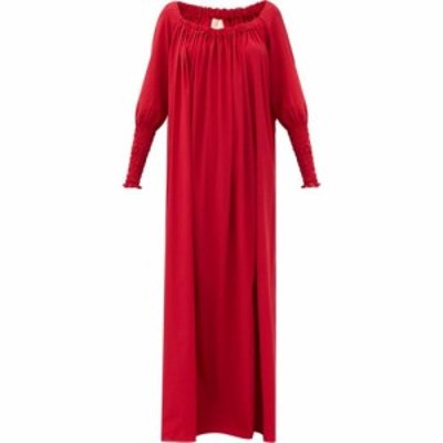 マルタ フェリ Marta Ferri レディース パーティードレス ワンピース・ドレス X Pierre Frey Noel gathered silk-blend dress Red