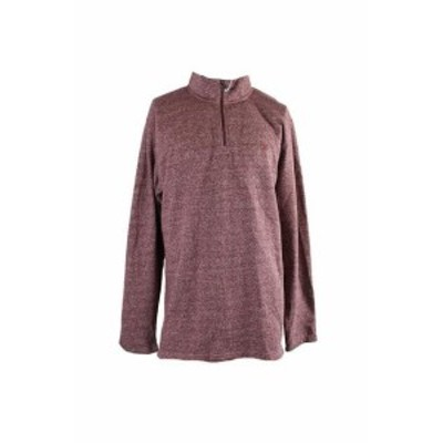 IZOD アイゾッド ファッション トップス Izod Red Speckled Quarter-Zip Sweater XL