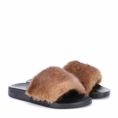 ジバンシー Givenchy レディース サンダル・ミュール シューズ・靴 Fur slides Natural