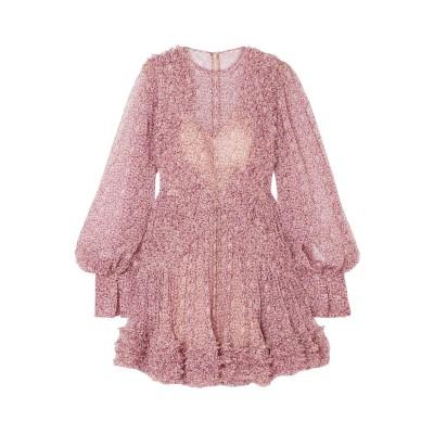 ステラ マッカートニー STELLA McCARTNEY ミニワンピース&ドレス ピンク 46 シルク 100% ミニワンピース&ドレス