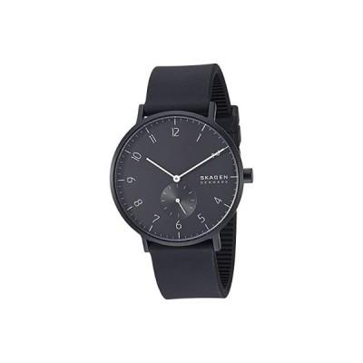 スカーゲン Aaren Kulor 41mm Three-Hand Silicone Watch メンズ 腕時計 時計 カジュアルウォッチ SKW6544 Black Silicone