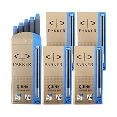 パーカー PARKER カートリッジインク クインク QUINK ウォッシャブルブルー 5箱セット (1箱 5本入り) (ウォッシャブルブルー)