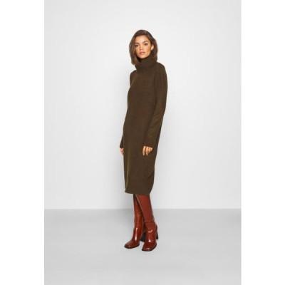 オンリー レディース ドレス ONLBRANDIE ROLL NECK DRESS - Jumper dress - chicory coffee