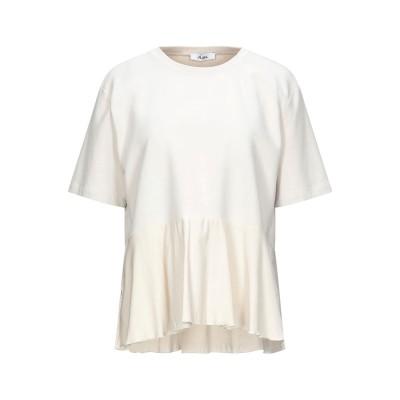 ジジル JIJIL T シャツ ベージュ 46 コットン 94% / ポリウレタン 6% / シルク T シャツ