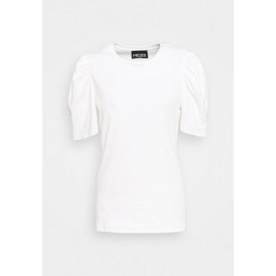 ピーシーズ カーブ Tシャツ レディース トップス PCANNA - Basic T-shirt - bright white