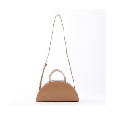 ショルダーバッグ バッグ 【LAUGOA】ラウゴア/バイカラー半月2WAYバッグ