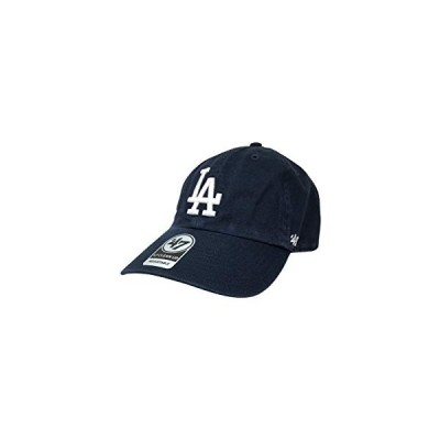 '47 Los Angeles Dodgers Brand Franchise Fitted Hat MLB Curve Bill Cap (One Size, Navy Core)【並行輸入品】