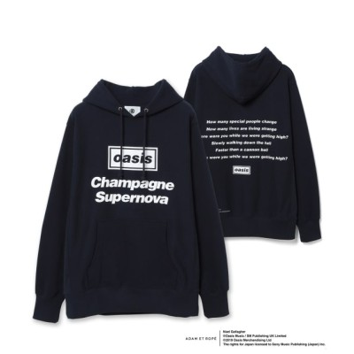 アダム エ ロペ オム/【oasis for ADAM ET ROPE'】SONG LYRICS PARKA/UNISEX/ブルー/M