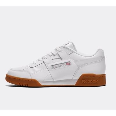 リーボック メンズ スニーカー シューズ・靴 Workout Plus Low Trainer White / Gum