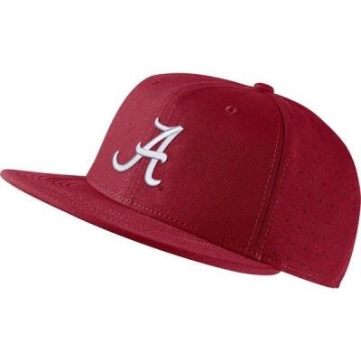ナイキ 帽子 アクセサリー メンズ Nike Men's University of Alabama AeroBill Baseball Cap Red Medium 01