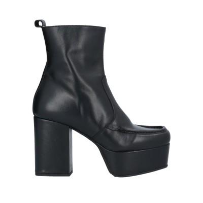 PIUMI ショートブーツ ブラック 36 牛革(カーフ) ショートブーツ