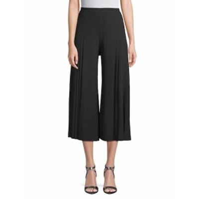 アリス+オリビア レディース パンツ Pleated Wide-Leg Crop Pants