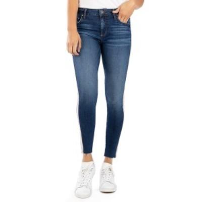 カットフロムザクロス レディース デニムパンツ ボトムス Donna Side Stripe High Rise Ankle Skinny Jeans ADORING W/DK ST