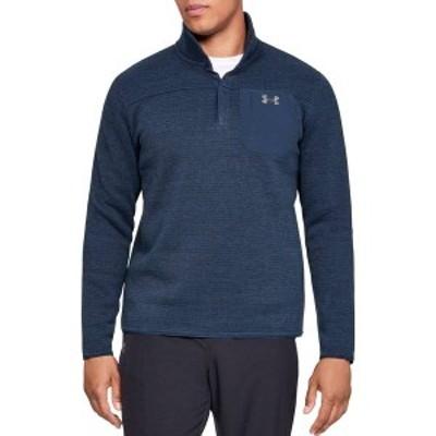 アンダーアーマー メンズ ジャケット・ブルゾン アウター Under Armour Men's Sweaterfleece Henley Long Sleeve Shirt (Regular and Big