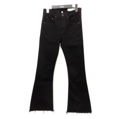 rag&bone ストレッチフレアデニムパンツ ブラック サイズ:24 (フレスポ東大阪店) 210204