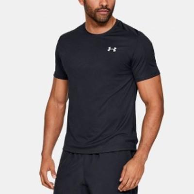 アンダーアーマー メンズ 陸上/ランニング 半袖Tシャツ UA SPEED STRIDE SHORTSLEEVE (1326564 001) : ブラック UNDER ARMOUR