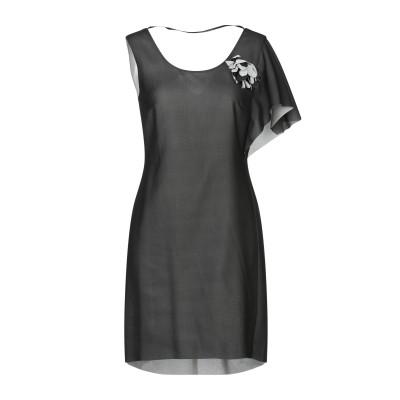 GIORGIA  & JOHNS ミニワンピース&ドレス ブラック L ポリエステル 100% ミニワンピース&ドレス