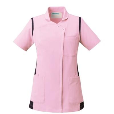 973 KAZEN レディススクラブ(衿付き) ナースウェア・白衣・介護ウェア