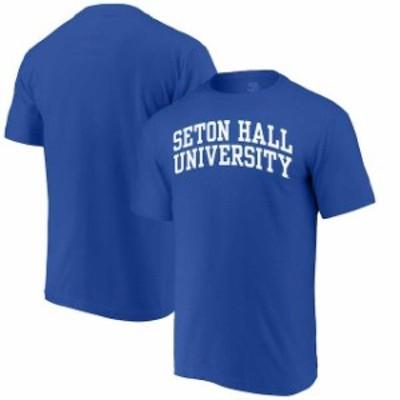 Alta Gracia アルタ グラシア スポーツ用品  Alta Gracia (Fair Trade) Seton Hall Pirates Royal Arched Wordmark T-Shirt