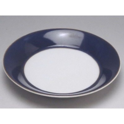 【B級品】濃紺金線 丸深皿(φ138) [普段使いの食器]