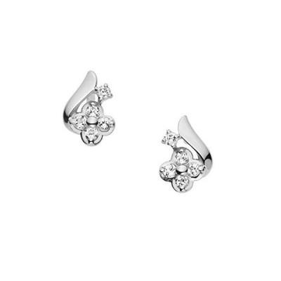 VAヴァンドーム青山 VA VENDOME AOYAMA K10WG ホワイトトパーズ ダイヤモンド フラワーピアス GJBA0292 TH