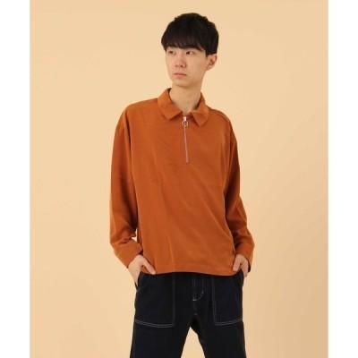 シャツ ブラウス 【BURNER SELECT】ハーフジップシャツ長袖