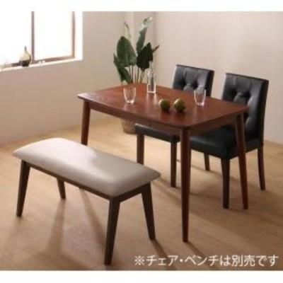 さっと拭ける PVCレザーダイニング fassio ファシオ ダイニングテーブル W115 テーブルカラー ブラウン   【同梱不可】【代引不可】[▲][TS]