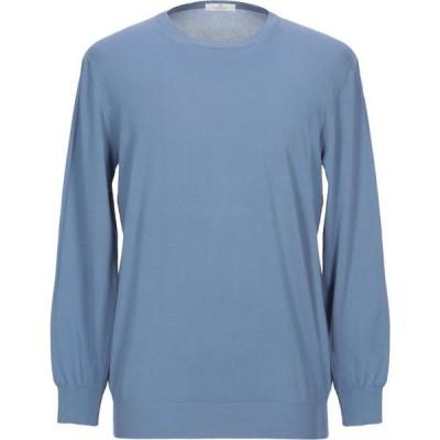 パニカーレ PANICALE メンズ ニット・セーター トップス sweater Sky blue