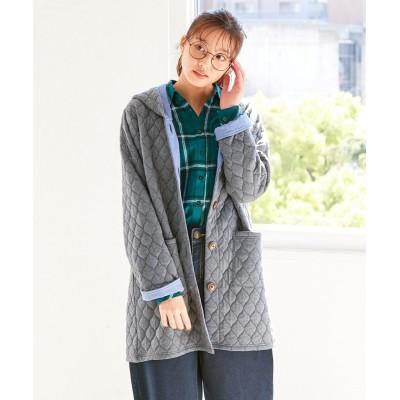 大きいサイズ さっと羽織れるリーフ模様のカットソーコーディガン ,スマイルランド, コート, plus size coat