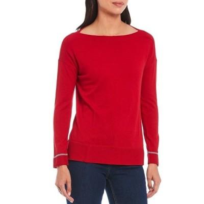 ジュールズ レディース ニット&セーター アウター Vivianna Boat Neck Rib Trim Long Sleeve Sweater Red