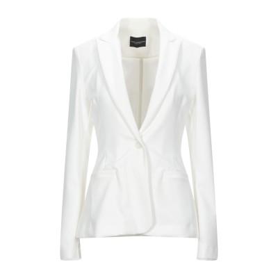 アトス ロンバルディーニ ATOS LOMBARDINI テーラードジャケット ホワイト 40 ポリエステル 88% / ポリウレタン 12% テー