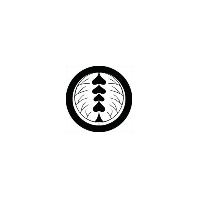 家紋シール 割り柊紋 直径4cm 丸型 白紋 4枚セット KS44M-0371W