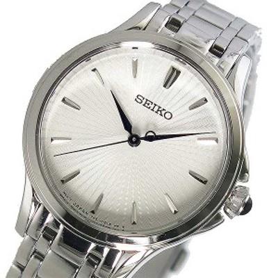 腕時計 レディース セイコー SEIKO クオーツ SRZ491P1 ホワイト パールホワイト