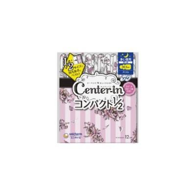 センターイン コンパクト1/ 2 スイートフローラルの香り 多い夜用 スリム 12枚 ユニ・チャーム 羽つき30.5cm 返品種別A