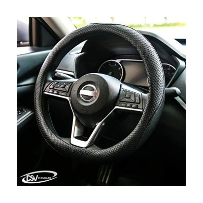 DSV Standard   Black Leather Car Steering Wheel Cover   Breathable, Anti - Slip Odorless   Warm in Winter and Cool in Summer   Genuine Leath