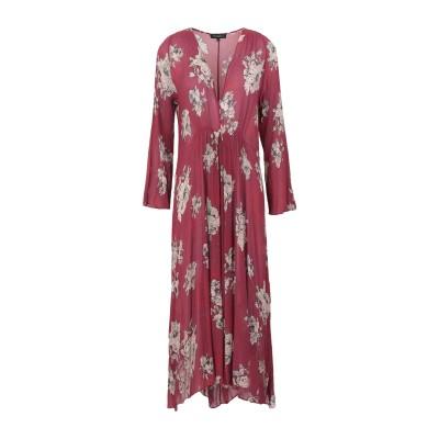 ANTONELLI 7分丈ワンピース・ドレス ガーネット 40 レーヨン 82% / シルク 18% 7分丈ワンピース・ドレス